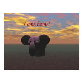 Cartão Postal Venha em casa