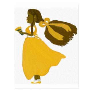 Cartão Postal Vento da menina