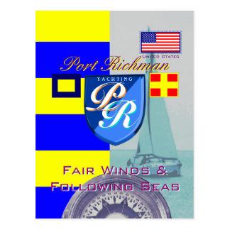 Cartão Postal Ventos justos de Richman do porto depois dos mares