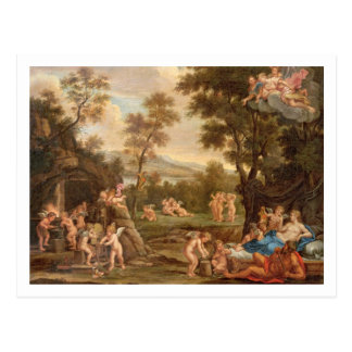 Cartão Postal Venus na forja de Vulcan, século XVIII