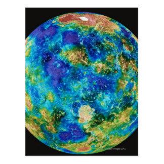 Cartão Postal Venus sob a cor falsa