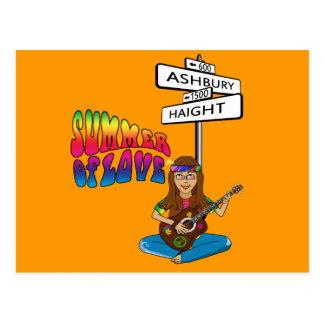 Cartão Postal Verão de Haight Ashbury do amor