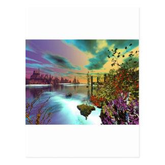 Cartão Postal verão infinito da arte 3d