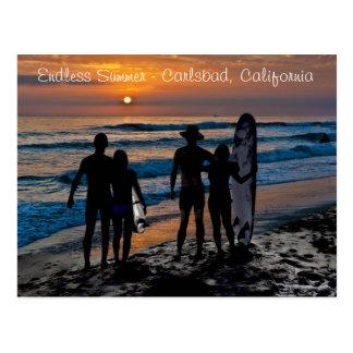 Cartão Postal Verão infinito em Carlsbad, Califórnia (EUA)