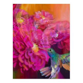 Cartão Postal Verão na flor completa