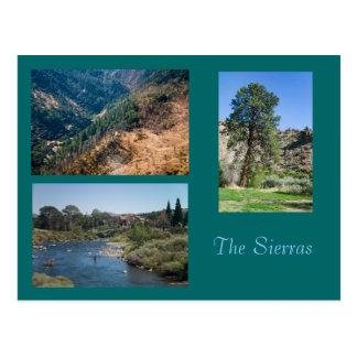 Cartão Postal Verão nas serras