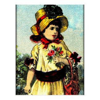 Cartão Postal Verão no jardim
