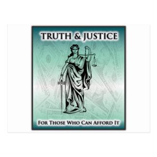 Cartão Postal Verdade & justiça - senhora Justiça