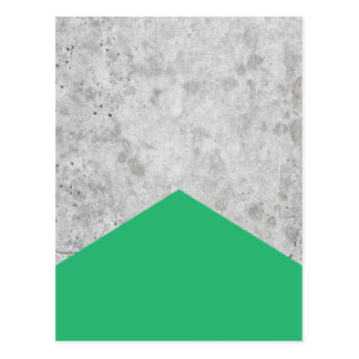 Cartão Postal Verde concreto #175 da seta