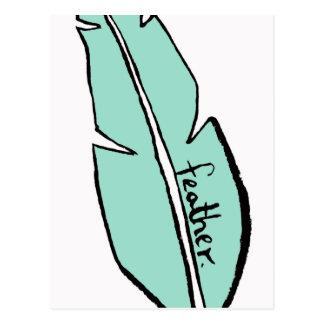 Cartão Postal verde da pena