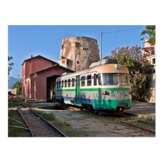 Cartão Postal Verde de Trenino - o pouco trem verde