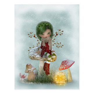 Cartão Postal Verde do inverno