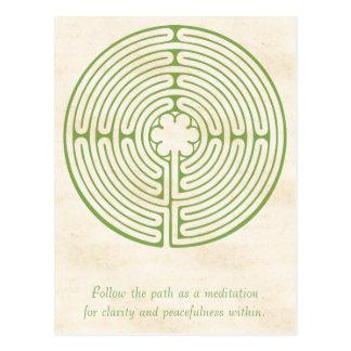Cartão Postal Verde do labirinto de Chartres
