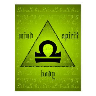 Cartão Postal Verde holístico do espírito do corpo da mente do