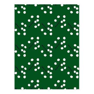 Cartão Postal verde oriental da baga