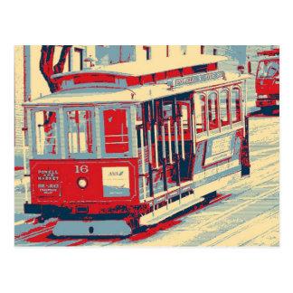 Cartão Postal Vermelho azul de San Francisco