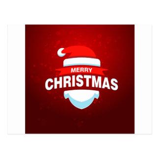 Cartão Postal Vermelho bonito do Xmas do Feliz Natal de Papai