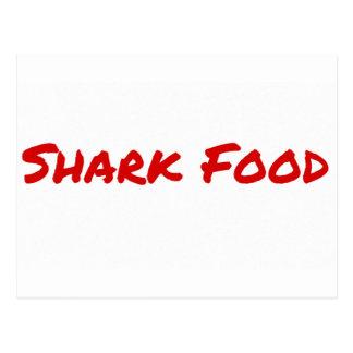 Cartão Postal Vermelho da comida do tubarão