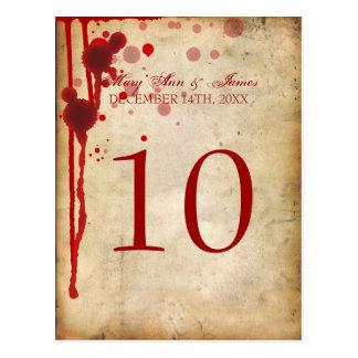 Cartão Postal Vermelho do sangue da falsificação do número da