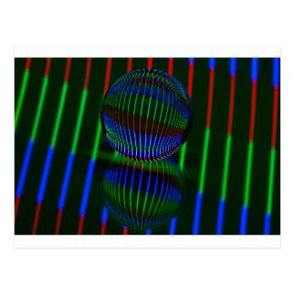 Cartão Postal Vermelho, verde, azul na bola de cristal