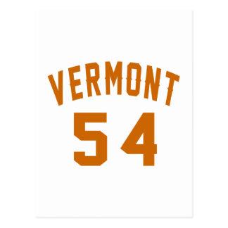 Cartão Postal Vermont 54 designs do aniversário