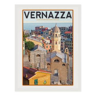 Cartão Postal Vernazza - igreja do d'Antiochia de Margherita do