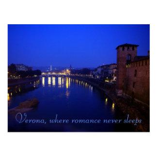 Cartão Postal Verona, noite