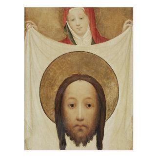 Cartão Postal Veronica com o Sudarium, c.1420 do santo