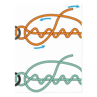 Cartão Postal Versão de duas cores melhorada do diagrama do nó