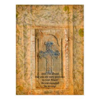 Cartão Postal Verso da bíblia do 10:19 de Daniel sobre o
