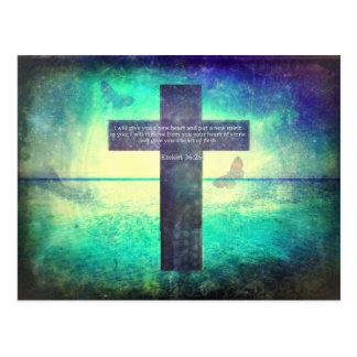Cartão Postal Verso inspirado da bíblia do 36:26 de Ezekiel