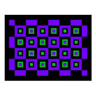 Cartão Postal Vertigem verde violeta