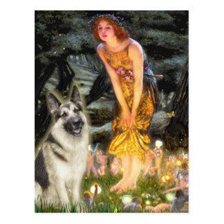 Cartão Postal Véspera de plenos Verões - german shepherd 9