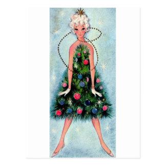 Cartão Postal Vestido da árvore de Natal