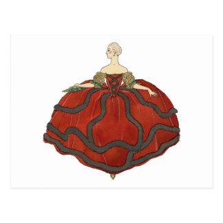 Cartão Postal Vestido de bola da senhora