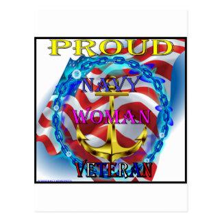 Cartão Postal Veterano da mulher do marinho