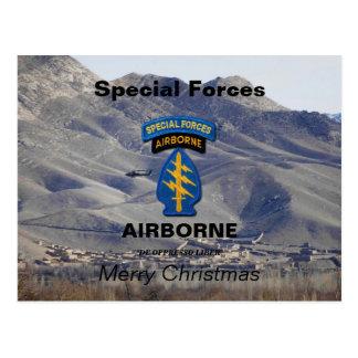 Cartão Postal Veteranos das boinas verdes SF SFG dos grupos das