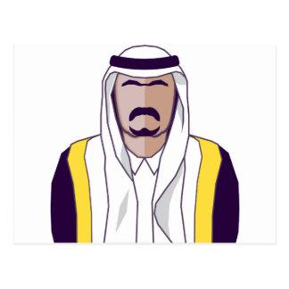 Cartão Postal Vetor árabe do príncipe