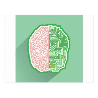 Cartão Postal Vetor do circuito do cérebro