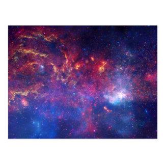 Cartão Postal Via Láctea do impressão da galáxia