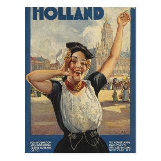 Cartão Postal Viagem aérea de Holland do vintage