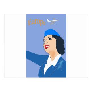 Cartão Postal Viagem aérea do vintage