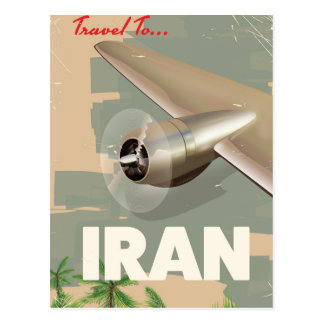 Cartão Postal viagem ao poster das viagens vintage de Irã