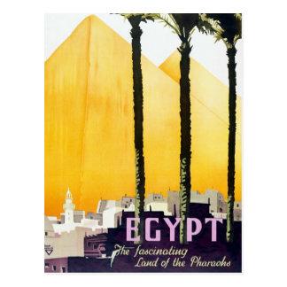 Cartão Postal Viagem das pirâmides de Egipto do vintage