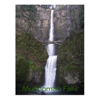Cartão Postal Viagem das quedas de Multnomah