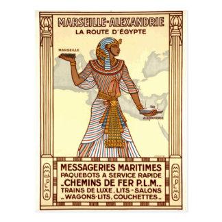 Cartão Postal Viagem de Egipto do vintage