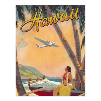 Cartão Postal Viagem de Havaí do vintage