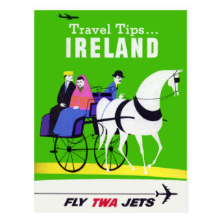 Cartão Postal Viagem de Ireland do vintage