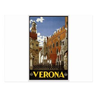 Cartão Postal Viagem de Verona do vintage