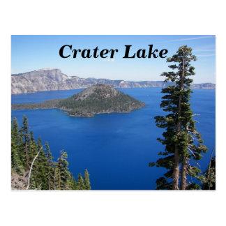 Cartão Postal Viagem do parque nacional do lago crater